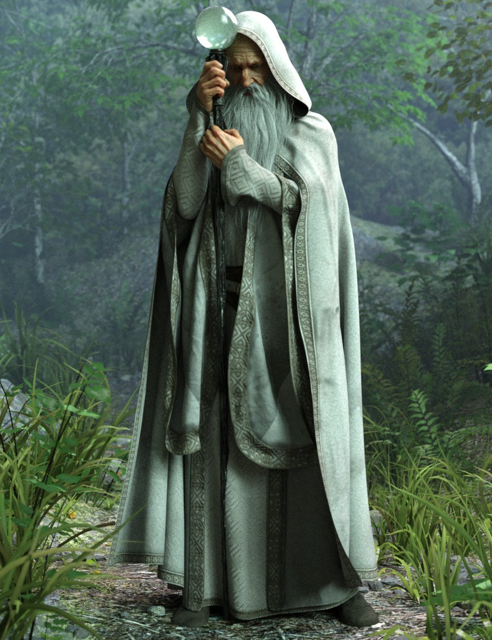 Wise Wizard Poses and Magic Props for Genesis 8 Male(s) by: Luthbellina, 3D Models by Daz 3D