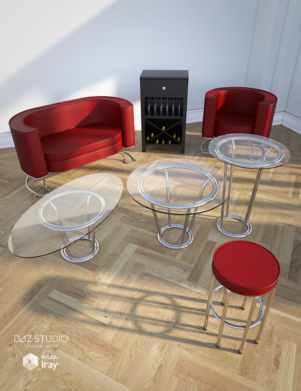 Sleek Lounge Furniture by: , 3D Models by Daz 3D