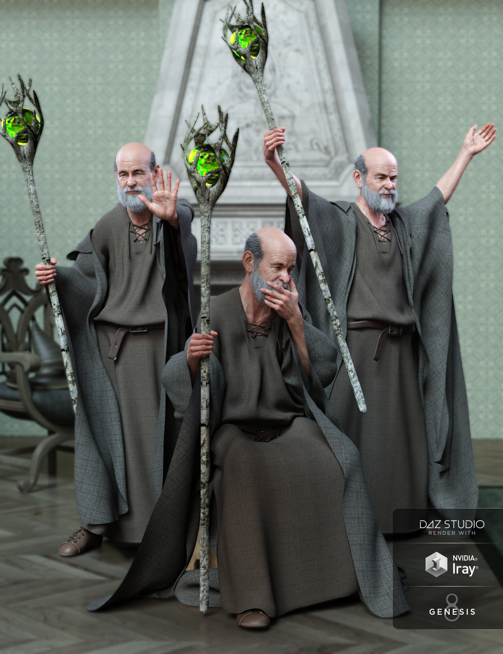 Wizard Lore Poses for Genesis 8 Male and Floyd 8 by: lunchlady, 3D Models by Daz 3D
