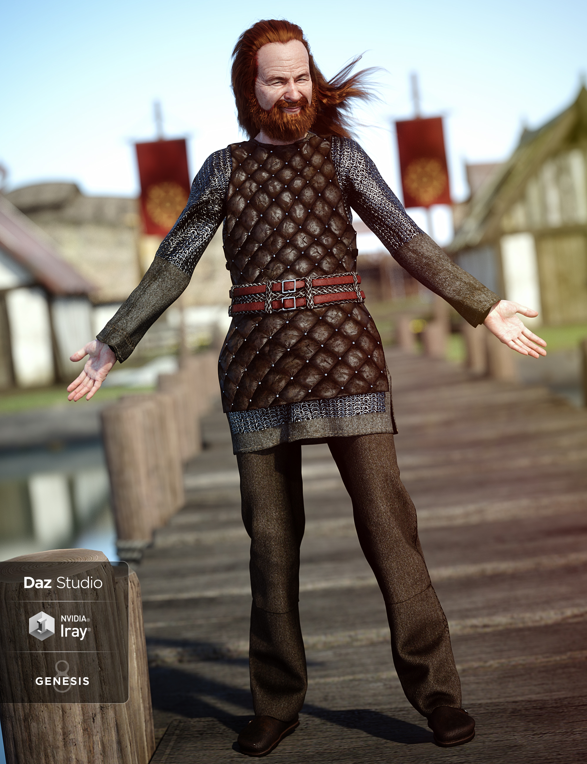 Lief Viking Outfit for Genesis 8 Male(s) by: , 3D Models by Daz 3D