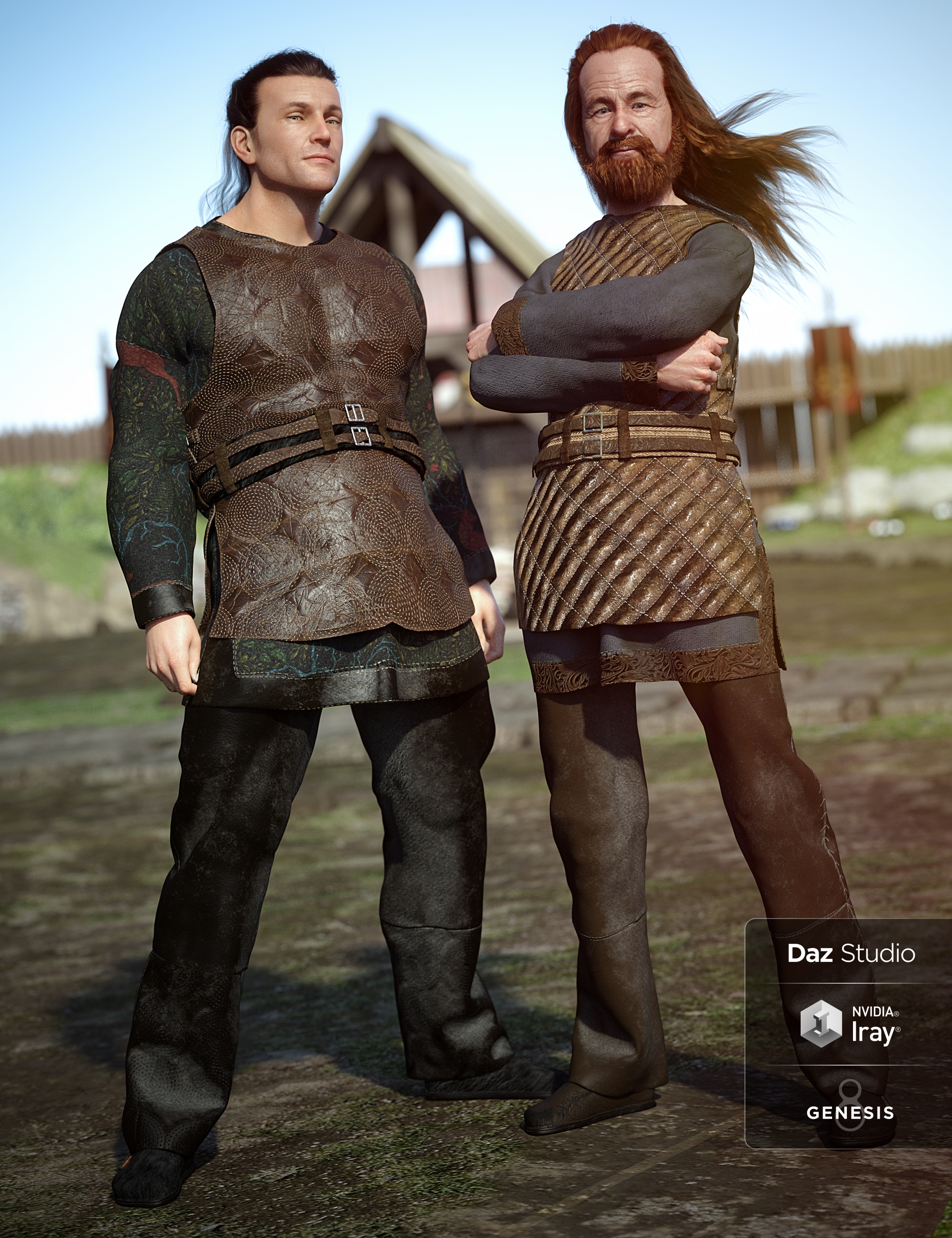 Lief Viking Outfit Textures by: Anna Benjamin, 3D Models by Daz 3D