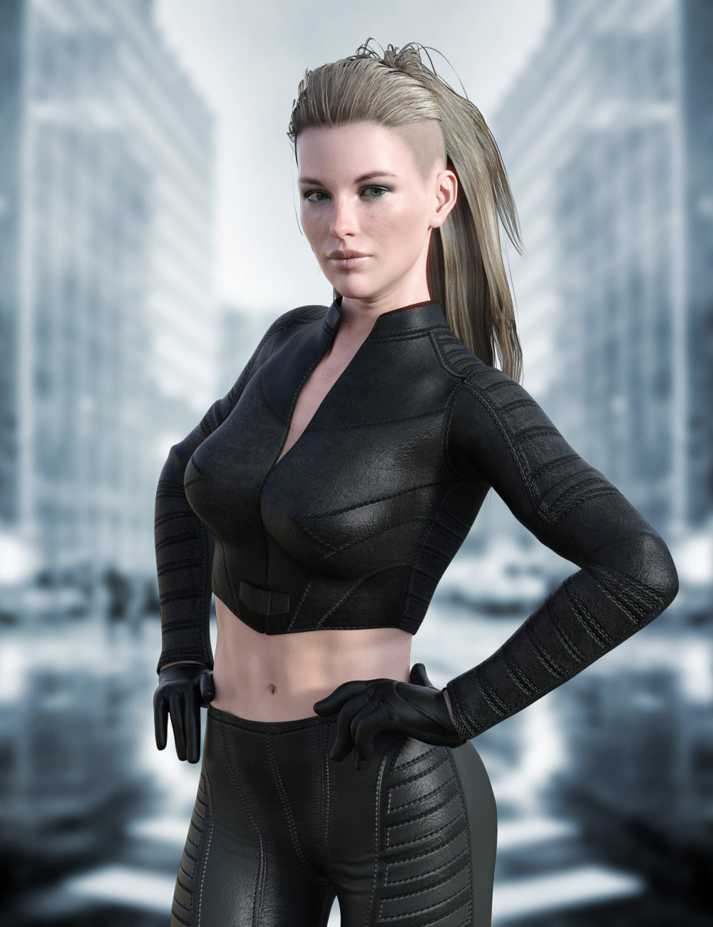 X-Fashion Justice Outfit for Genesis 8 Female(s) by: xtrart-3d, 3D Models by Daz 3D