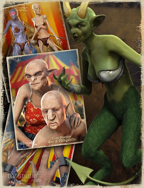 Victoria 4.2 Creature Creator Morphs by: , 3D Models by Daz 3D
