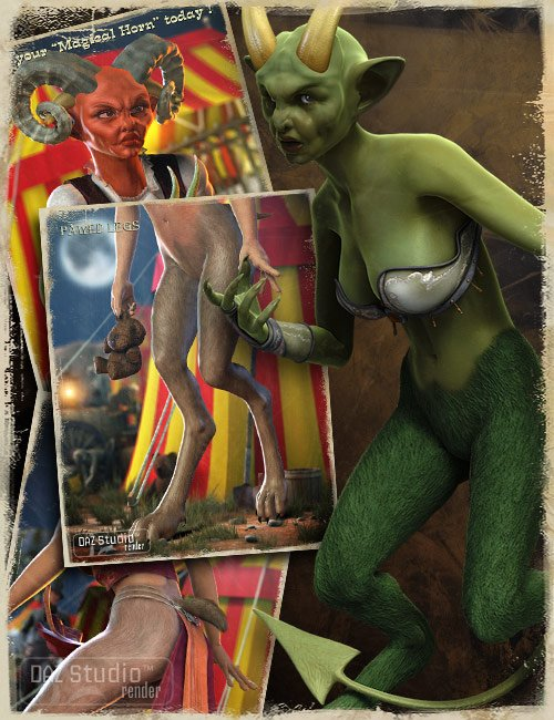 Victoria 4.2 Creature Creator Add Ons by: , 3D Models by Daz 3D