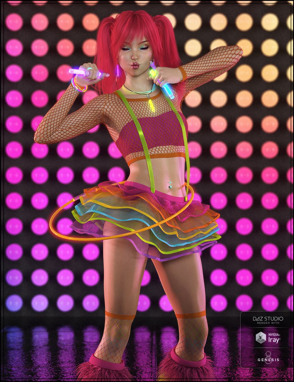 Party Monster Outfit for Genesis 8 Female(s) by: DemonicaEviliusJessaiiTrickster3DX, 3D Models by Daz 3D