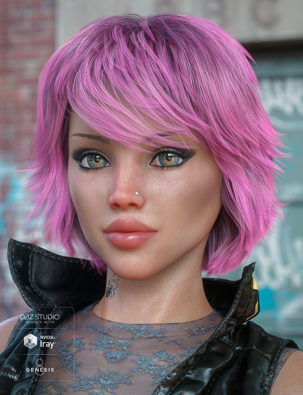 Textured Bob Hair for Genesis 8 and 3 Female(s) by: 3DCelebrity, 3D Models by Daz 3D