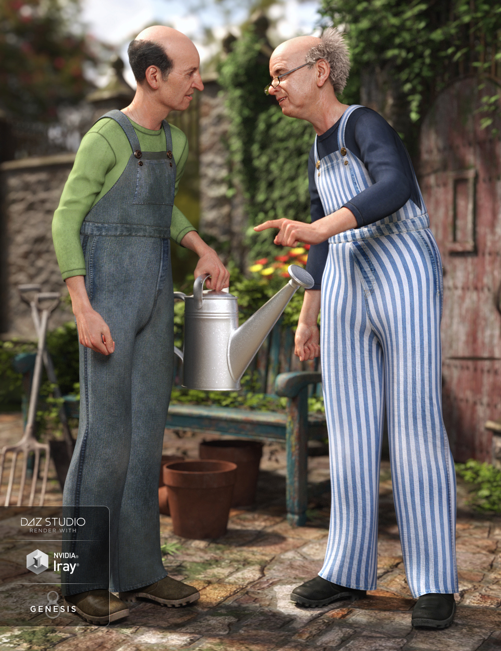 dForce Overalls Outfit Textures by: Arien, 3D Models by Daz 3D
