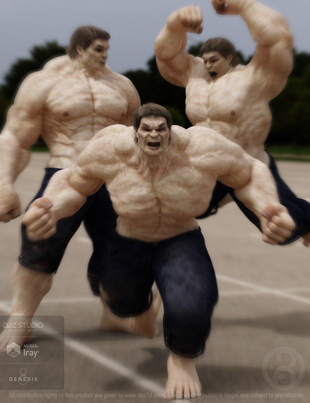 Biggun Poses for Genesis 8 Male by: RawArt, 3D Models by Daz 3D