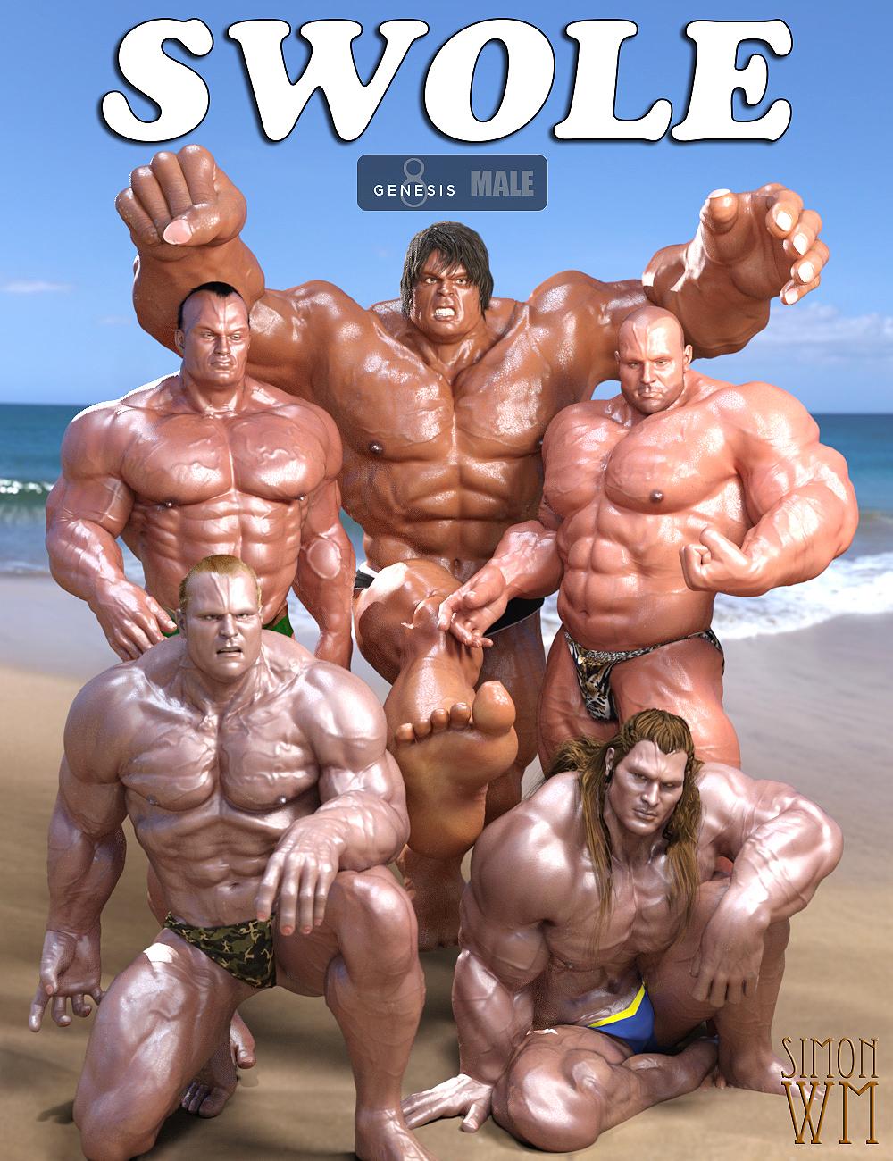 SWOLE for Genesis 8 Male by: SimonWM, 3D Models by Daz 3D
