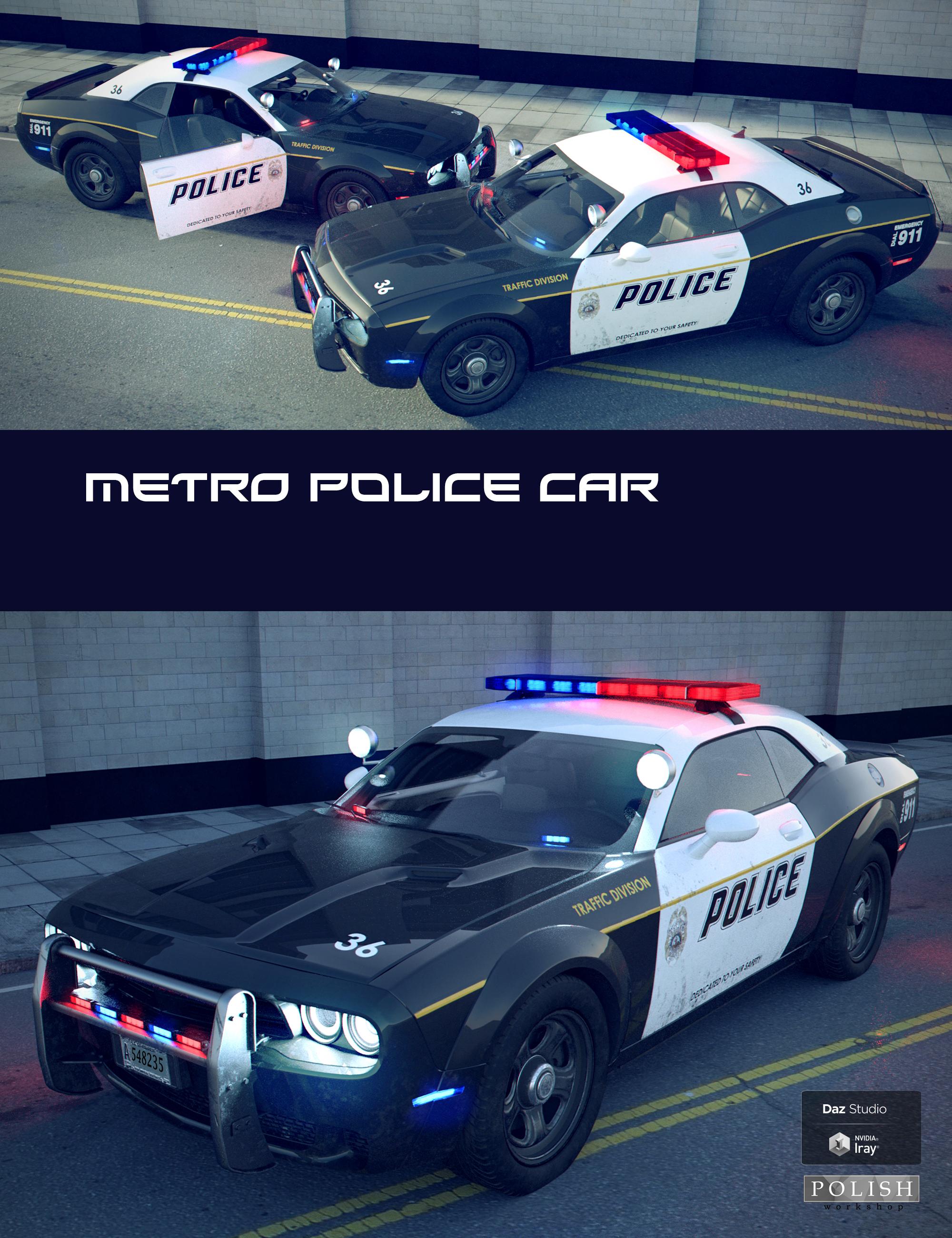 Metro Police Car by: Polish, 3D Models by Daz 3D