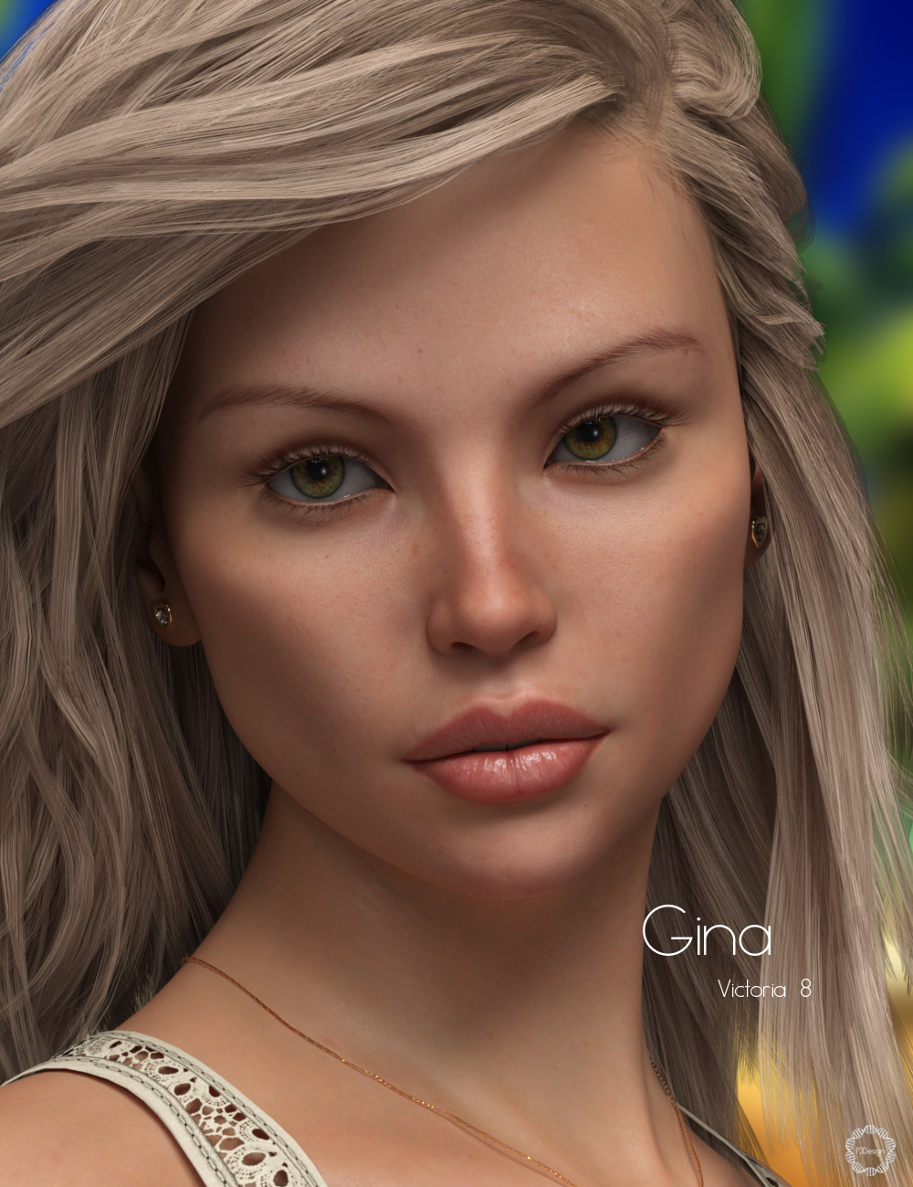 P3D Gina for Victoria 8 by: P3Design, 3D Models by Daz 3D