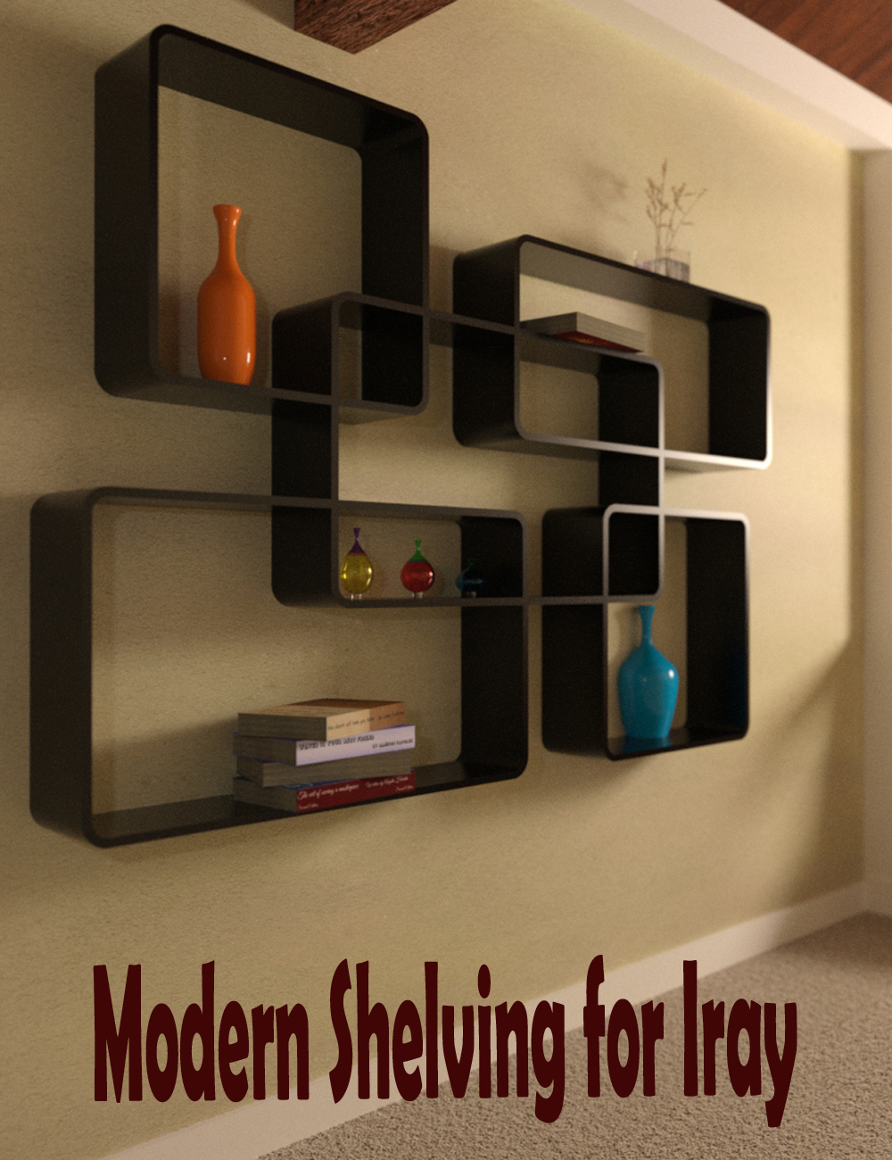Modern Shelving for Iray by: ImagineX, 3D Models by Daz 3D