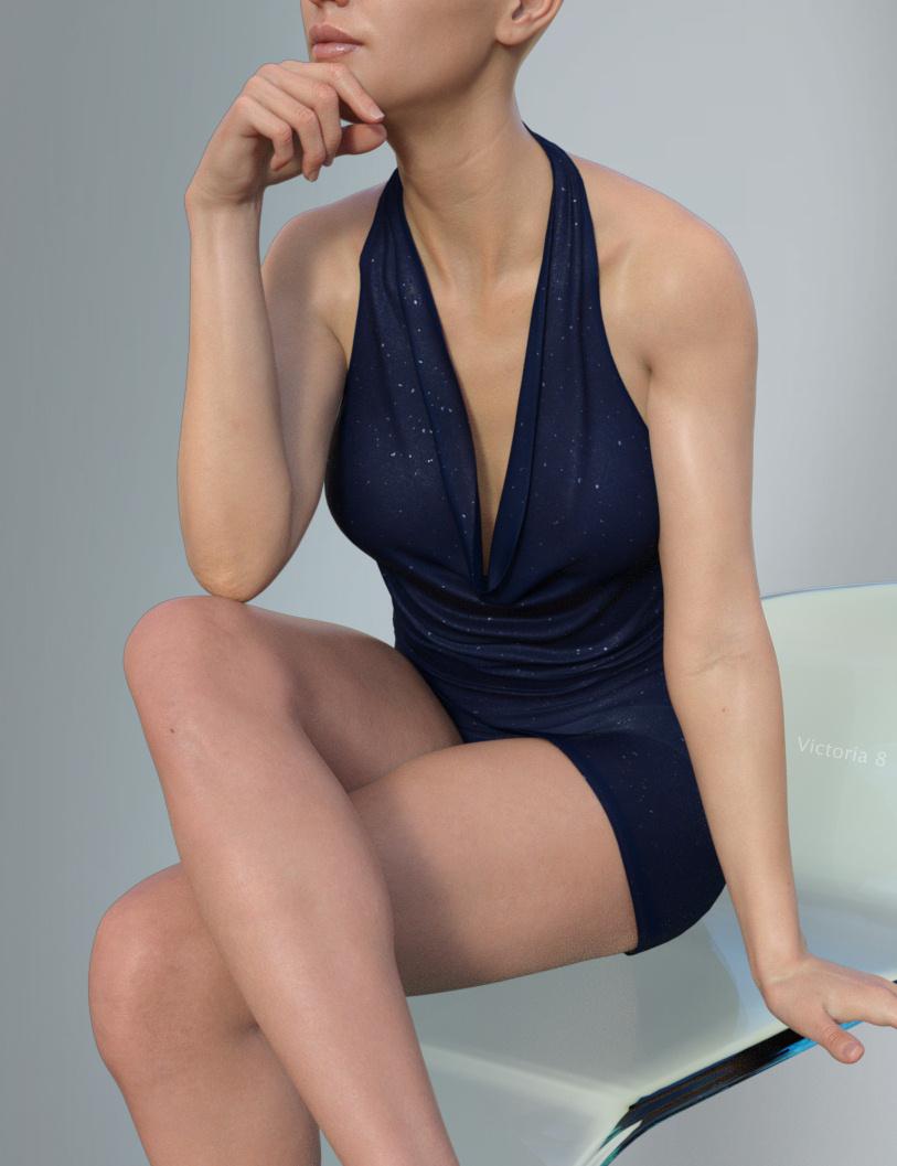 Hongyu's Mini Dress for Victoria 8 and Genesis 8 Female by: hongyu, 3D Models by Daz 3D