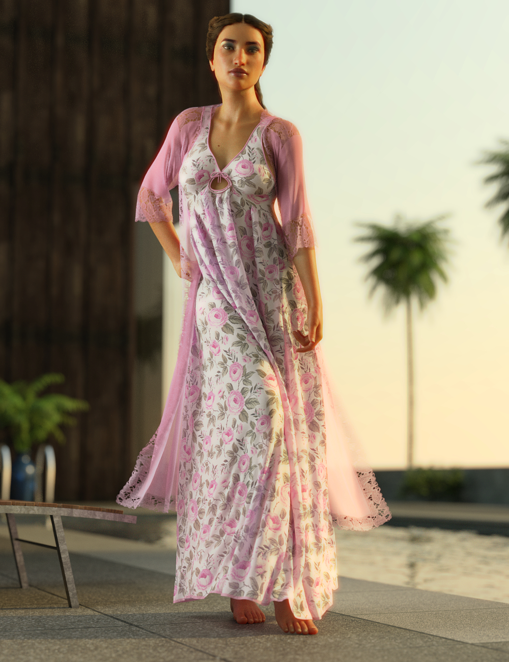 dForce Beach Breeze Outfit for Genesis 8 Female(s) by: Toyen, 3D Models by Daz 3D