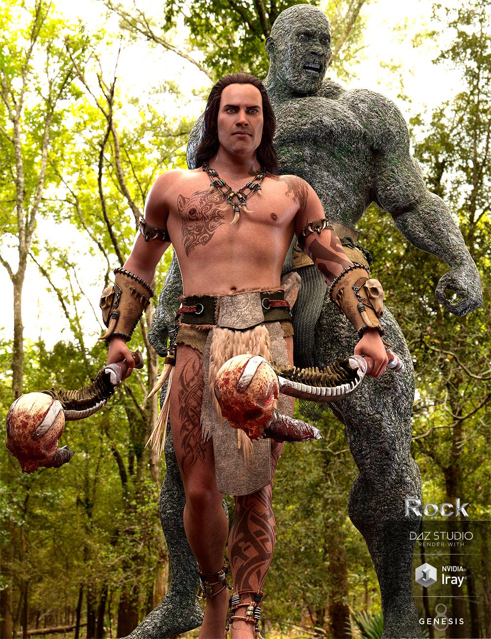 Rock for Genesis 8 Male by: Marcius, 3D Models by Daz 3D