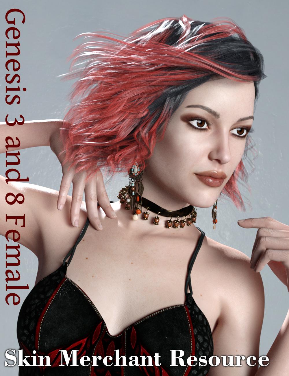 Genesis 3 and 8 Female(s) Texture Merchant Resource (Pale Skin) by: Vyusur, 3D Models by Daz 3D