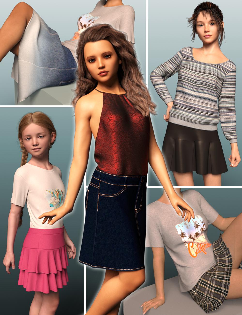 dForce Wardrobe & Shaders 1 for Genesis 8 Female(s) by: DogzIDG DesignsDestinysGarden, 3D Models by Daz 3D