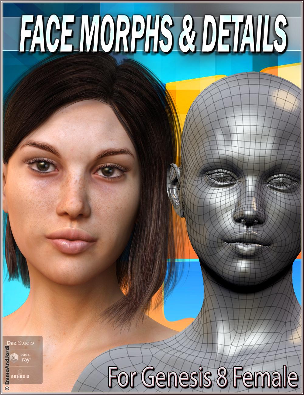 EJ Face Morphs And Details for Genesis 8 Female(s) by: EmmaAndJordi, 3D Models by Daz 3D