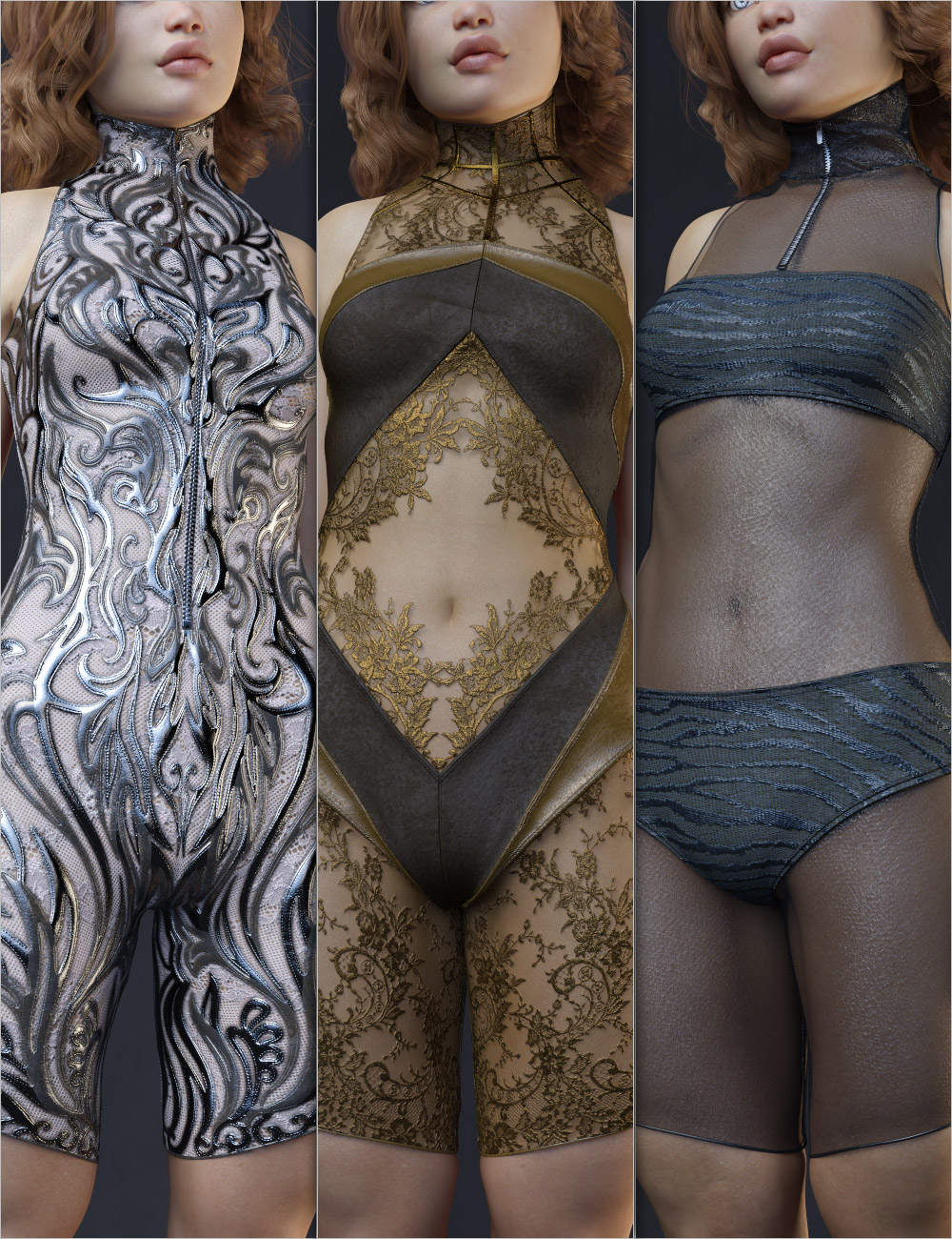 Helix Charm Outfit for Genesis 8 Female(s) by: Aeon Soul, 3D Models by Daz 3D