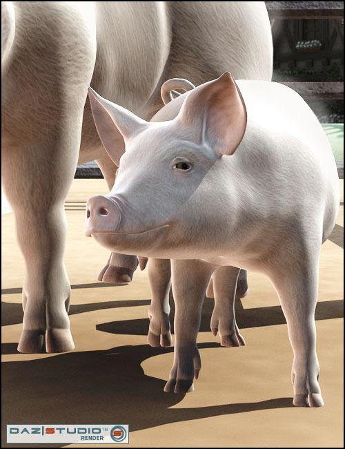 DAZ Piglet by: , 3D Models by Daz 3D