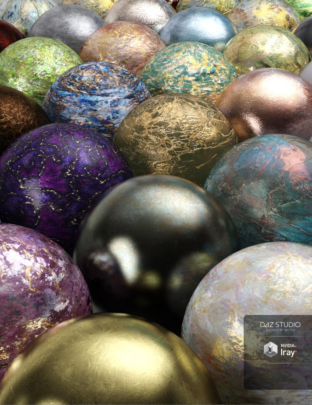 PL Semi Precious Iray Shaders by: PoisenedLily, 3D Models by Daz 3D