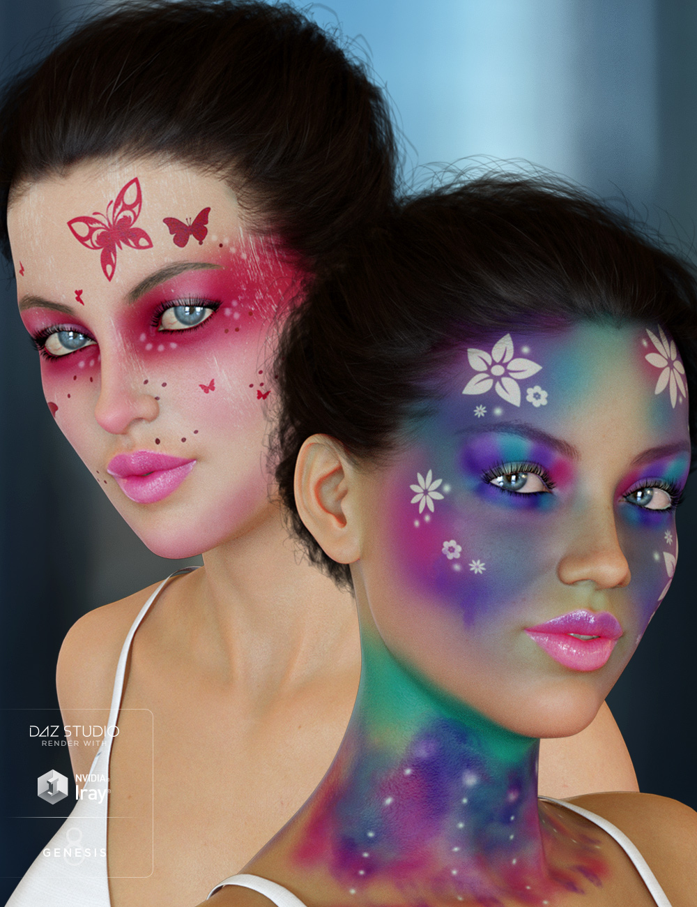 Enchanted Fantasy Makeup for Genesis 8 Female(s) by: 3DSublimeProductions, 3D Models by Daz 3D