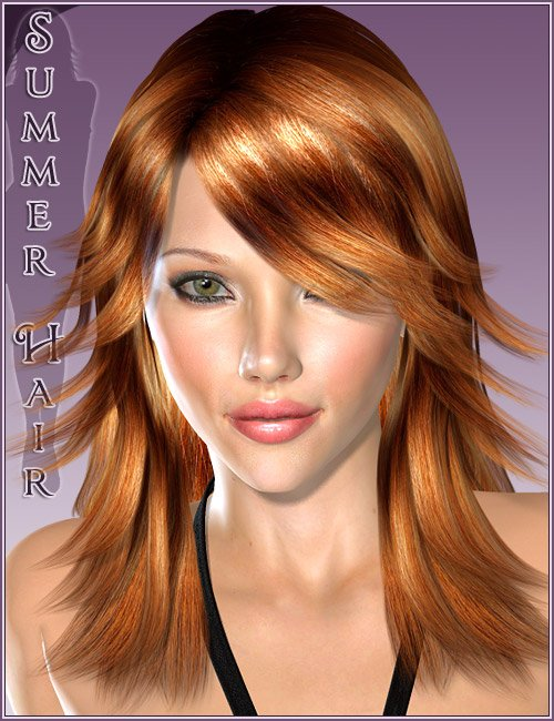 Summer Hair by: , 3D Models by Daz 3D