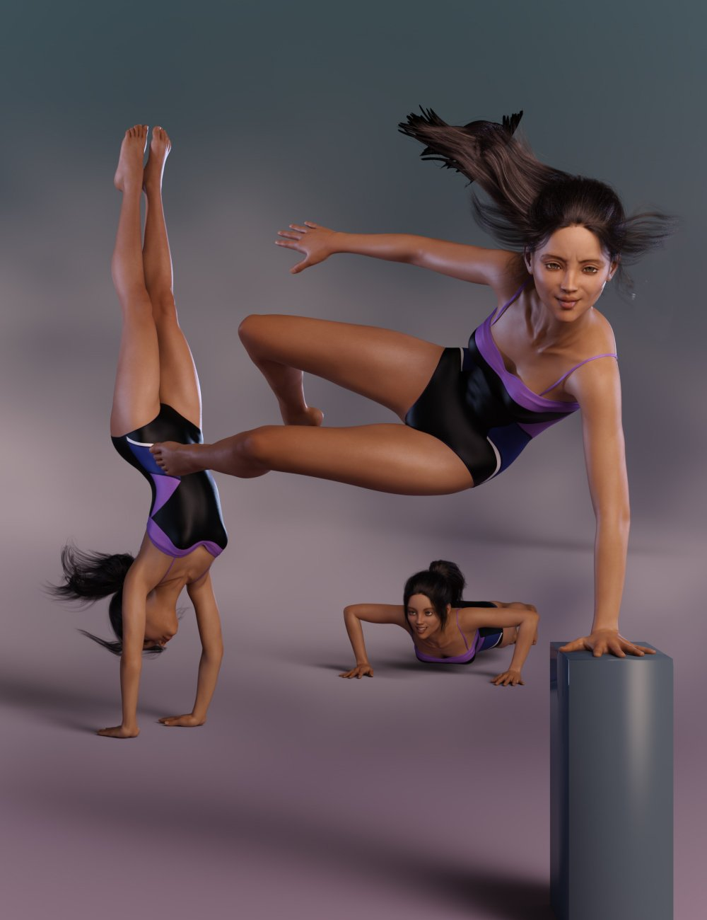 Action Poses for Teen Kaylee 8 and Genesis 8 Female by: lunchlady, 3D Models by Daz 3D