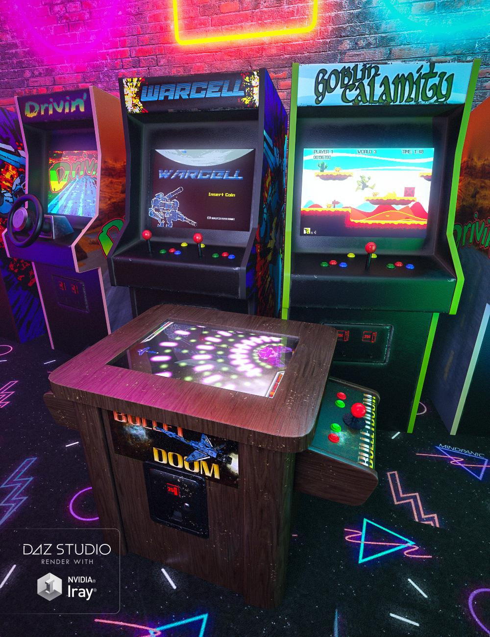 Retro Arcade Cabinets by: Valandar, 3D Models by Daz 3D
