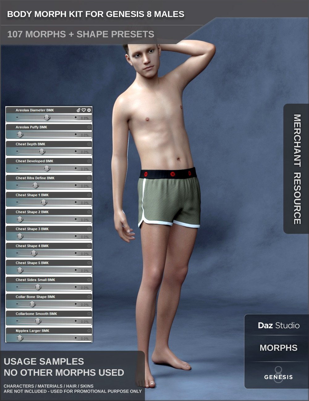 Body Morph Kit for Genesis 8 Male by: SF-Design, 3D Models by Daz 3D