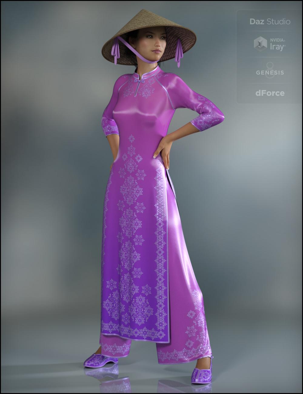 dForce Eastern Elegance for Genesis 8 Female(s) by: Fisty & Darc, 3D Models by Daz 3D