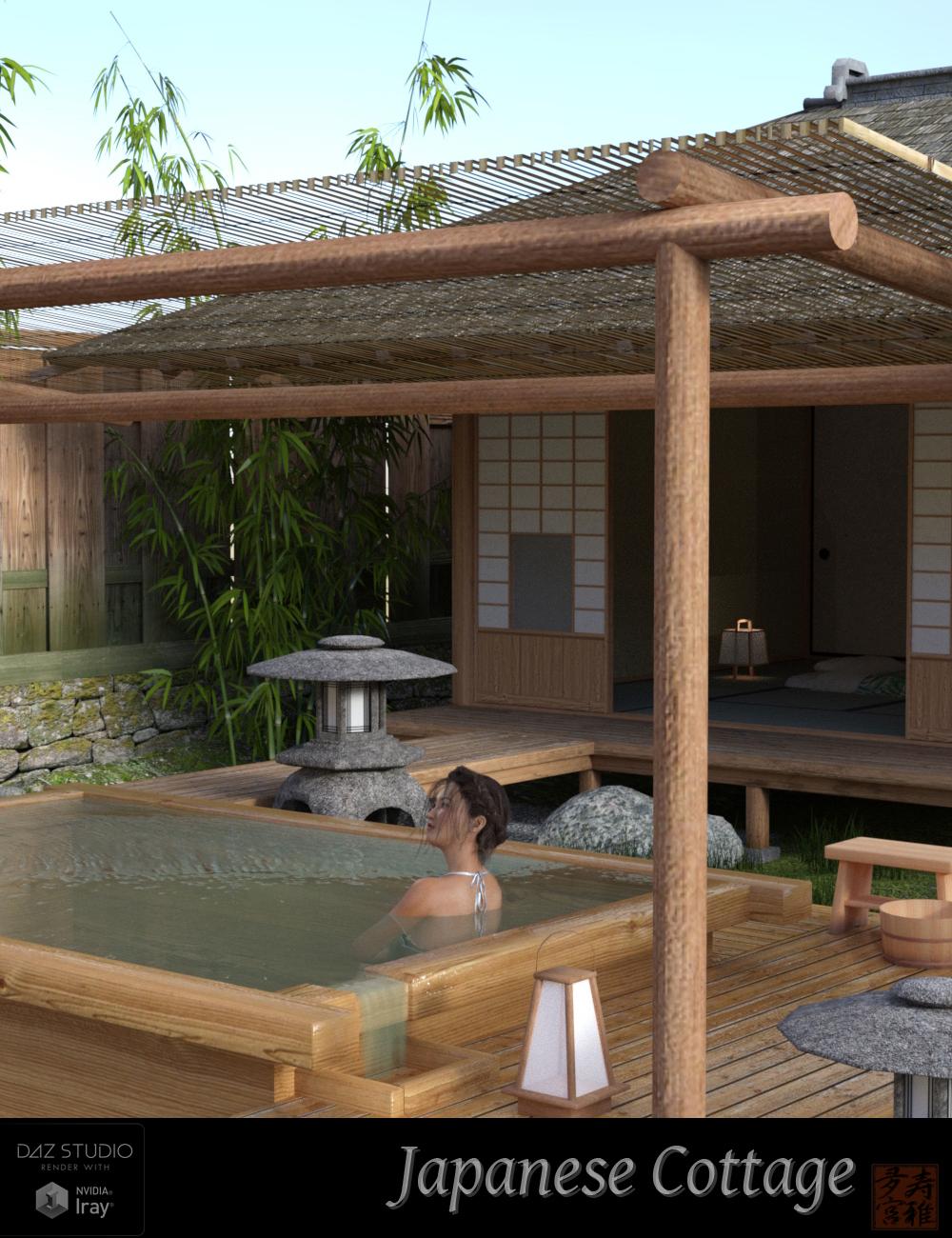 Japanese Cottage by: sugatak, 3D Models by Daz 3D