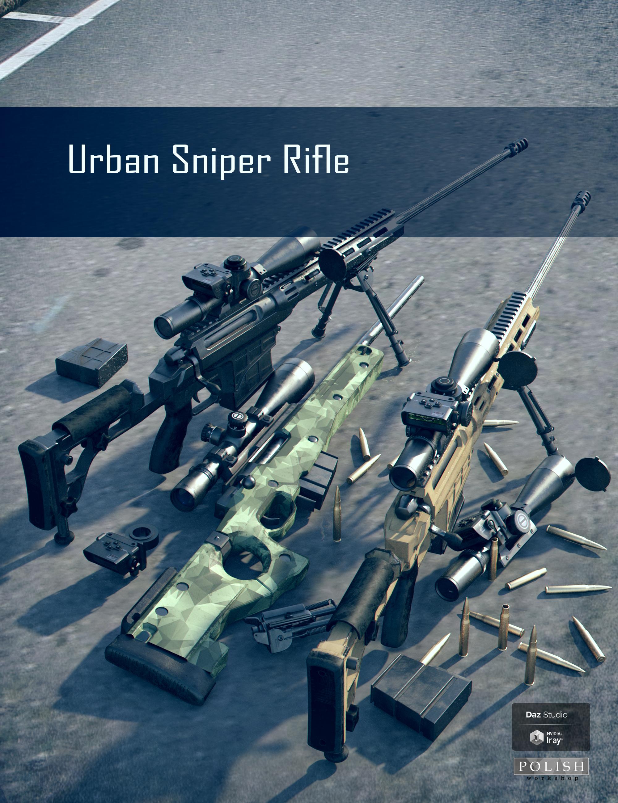 Urban Sniper Rifle by: Polish, 3D Models by Daz 3D