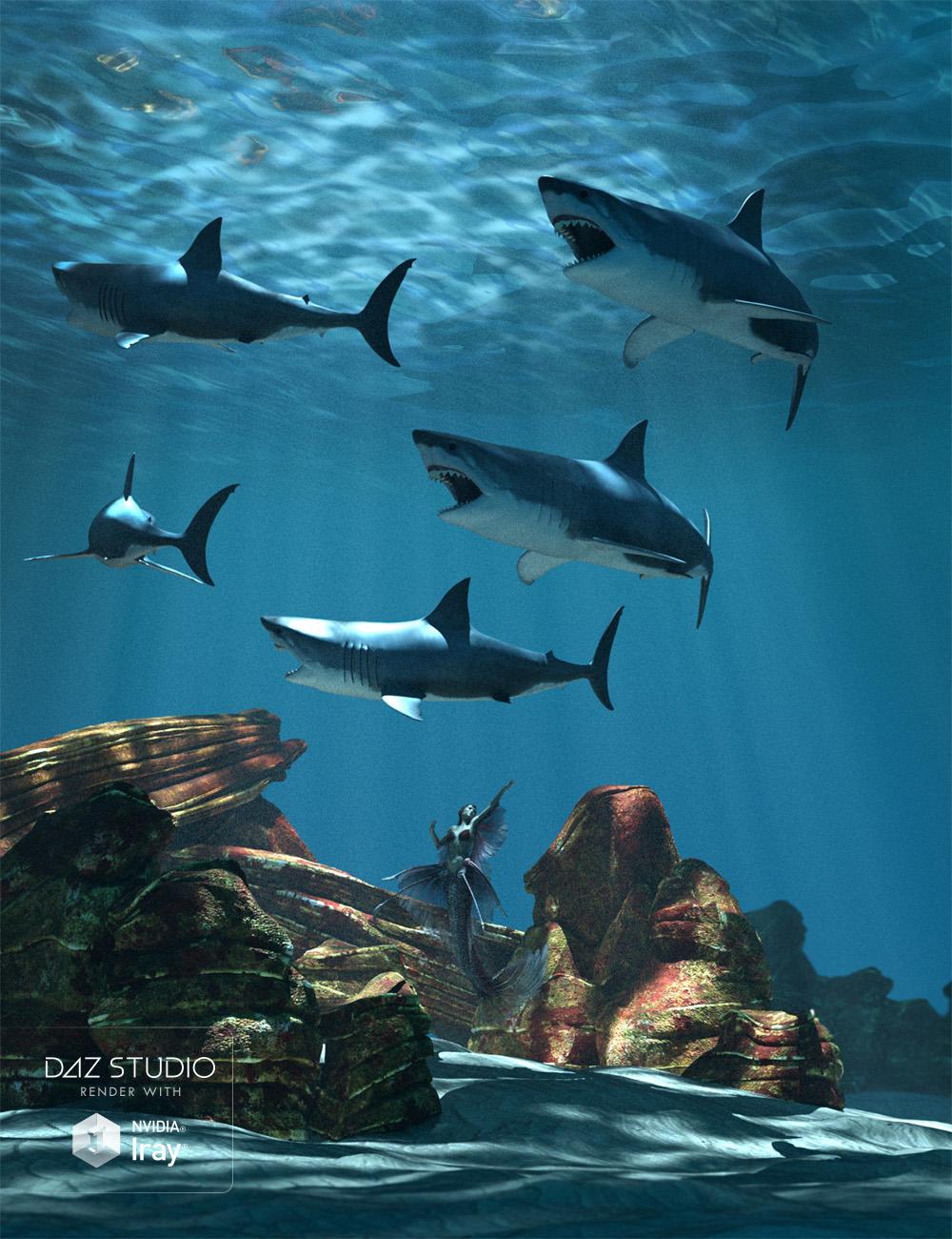 Aguja Undersea Environment by: ArkiMarshian, 3D Models by Daz 3D