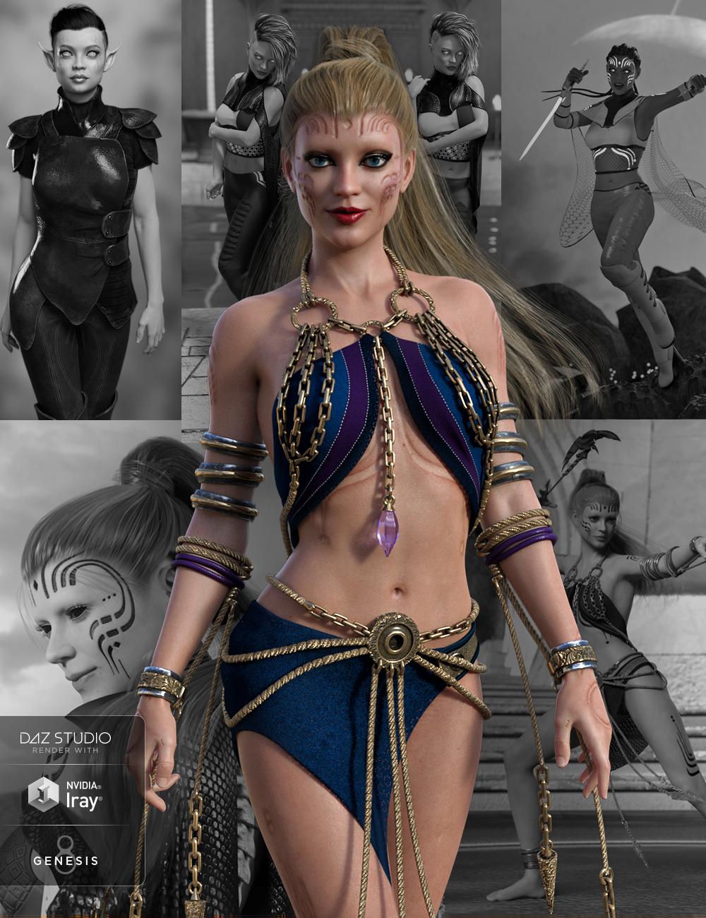 Zelara 8 Starter Bundle by: , 3D Models by Daz 3D