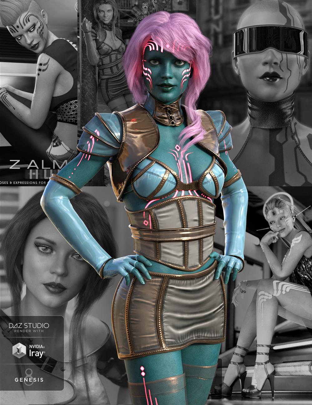 Zelara 8 Pro Bundle by: , 3D Models by Daz 3D