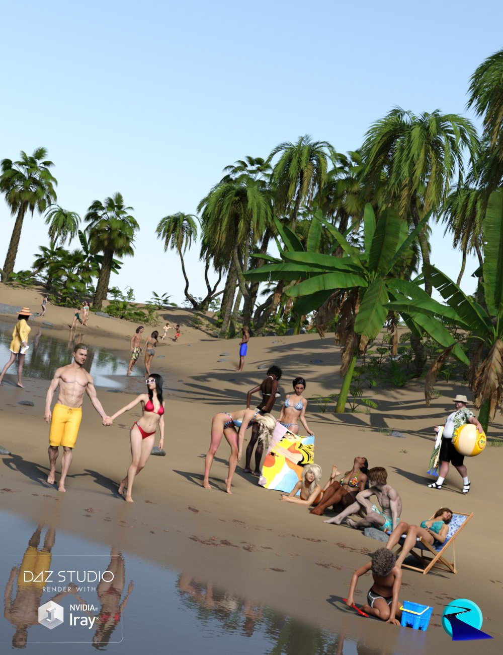 Now-Crowd Billboards - Beach Life by: RiverSoft Art, 3D Models by Daz 3D