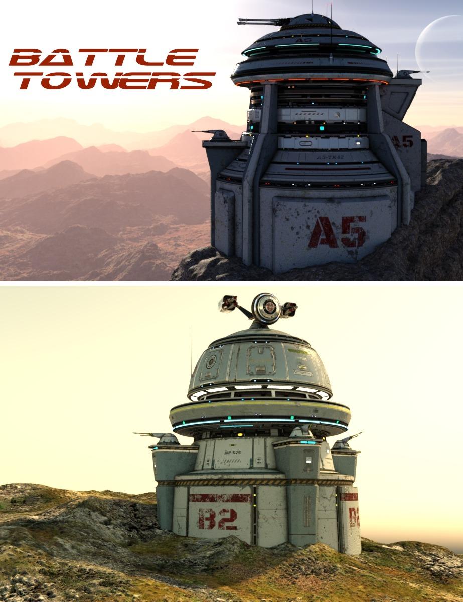 Battle Towers by: Kibarreto, 3D Models by Daz 3D