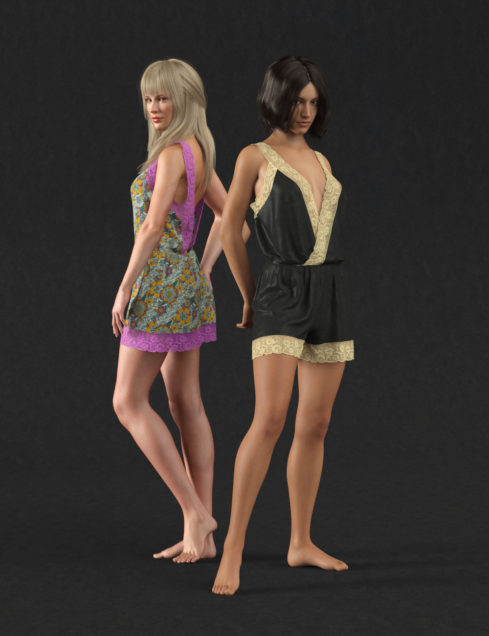 dForce Retro Romper for Genesis 8 Female(s) by: Sprite, 3D Models by Daz 3D