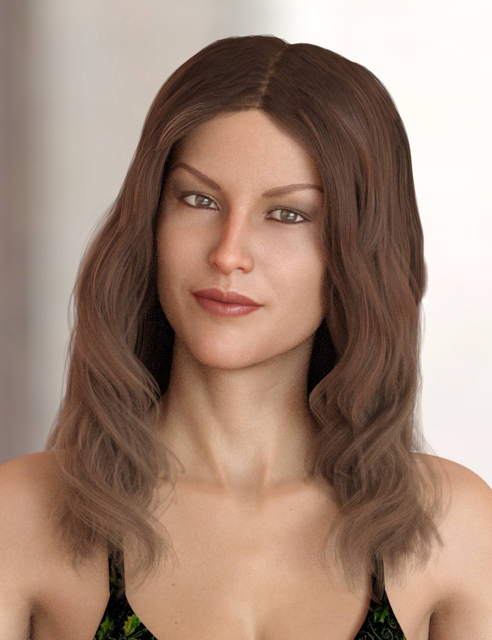 Caitlyn Hair for Genesis 3 and 8 Female(s) by: PhilW, 3D Models by Daz 3D