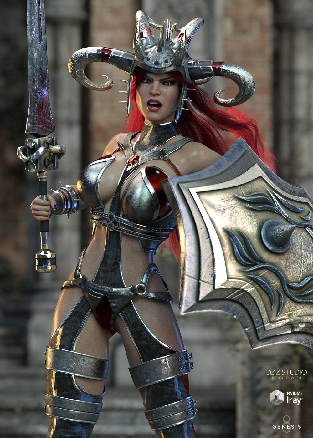 Zealoth Outfit and Weapons for Genesis 8 Female(s) by: HM, 3D Models by Daz 3D