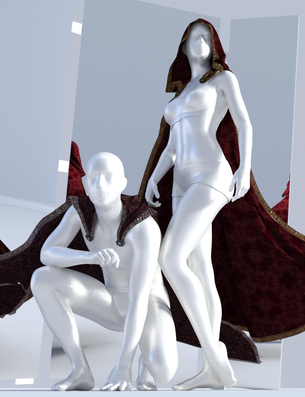 dForce SsC Knight Cloak for Genesis 3 and 8 by: Sshodan, 3D Models by Daz 3D