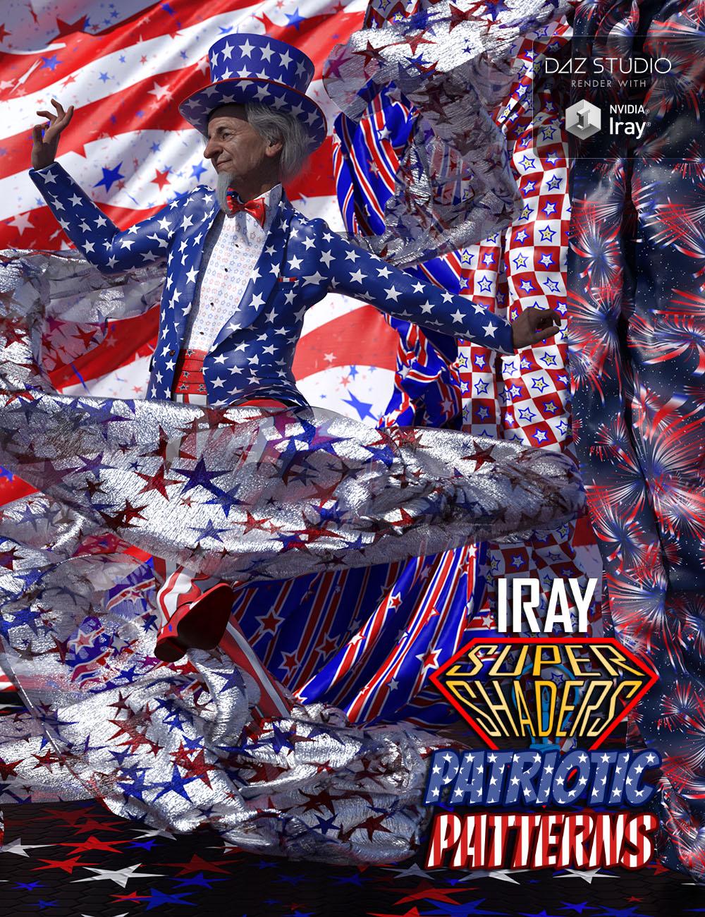 Iray Super Shaders Patriotic Patterns (Merchant Resource) by: Denki Gaka, 3D Models by Daz 3D