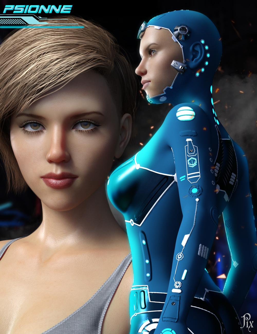Psionne & Psion Suit for Genesis 8 Female(s) by: Pixelunashadownet, 3D Models by Daz 3D