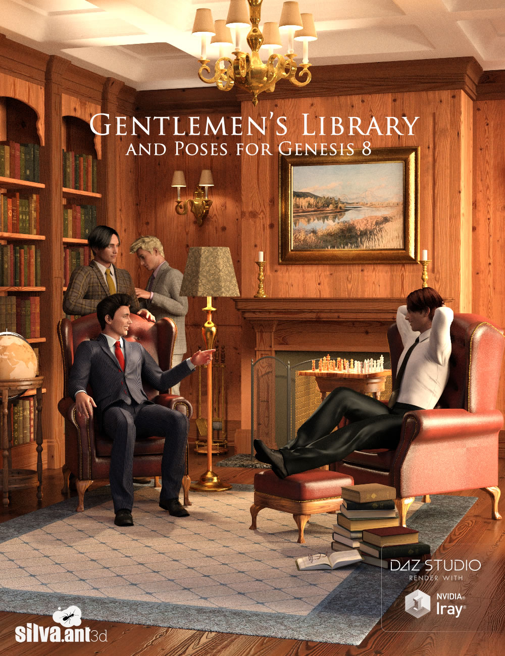Gentlemen's Library by: SilvaAnt3d, 3D Models by Daz 3D