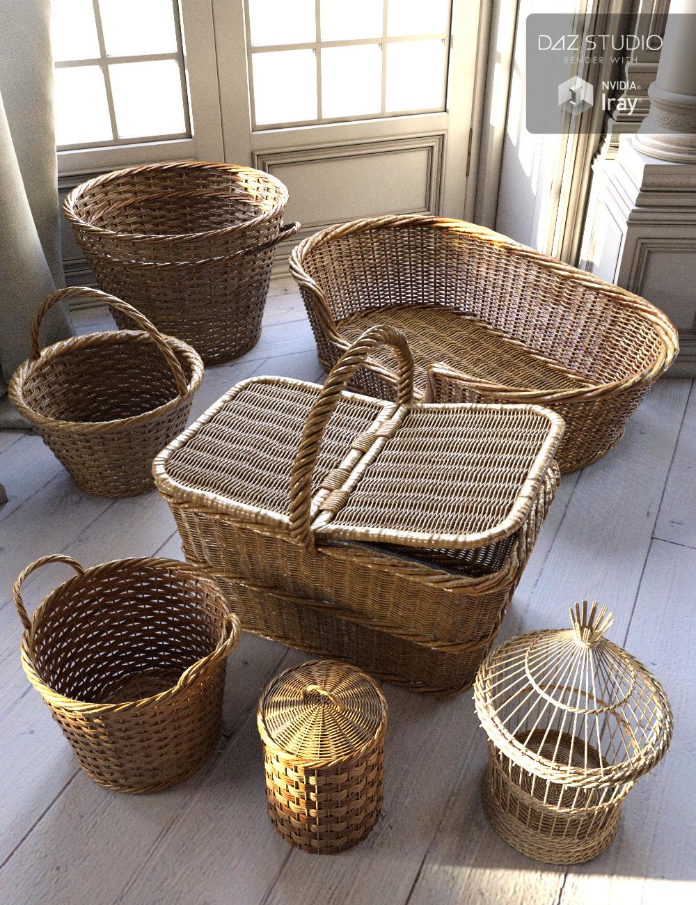 Basketry by: Merlin Studios, 3D Models by Daz 3D