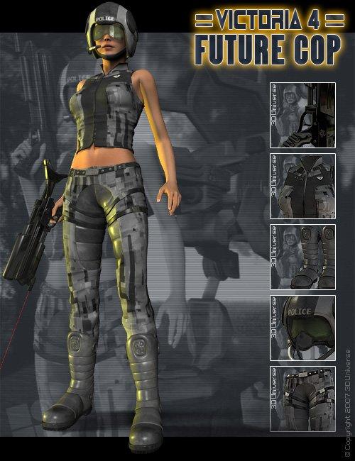 V4 Future Cop by: 3D Universe, 3D Models by Daz 3D