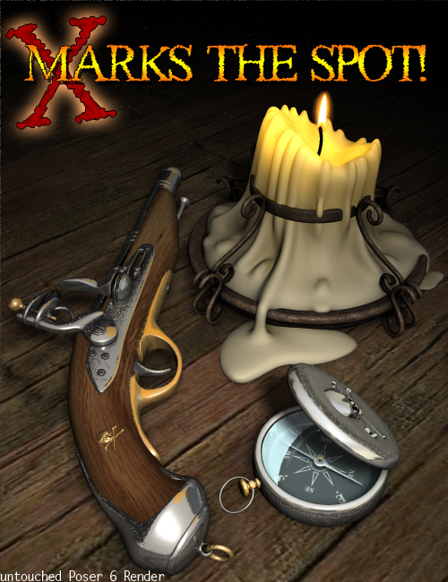 X Marks the Spot: Accessories by: 3D Universe, 3D Models by Daz 3D
