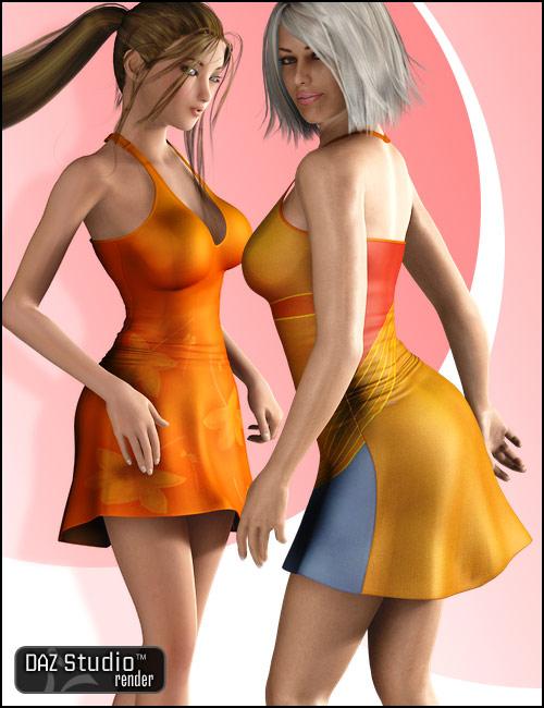 Sporty Dress by: 4blueyes, 3D Models by Daz 3D