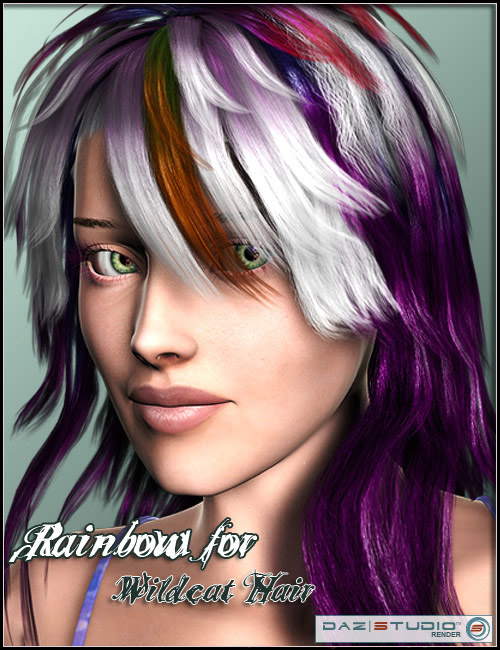 Rainbow for Wildcat Hair by: Arki, 3D Models by Daz 3D